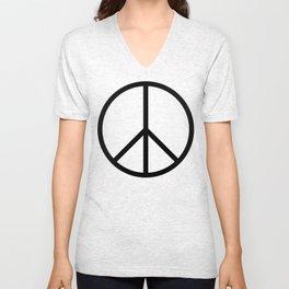 CND Peace Symbol Unisex V-Neck