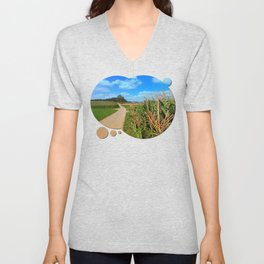 Besides the cornfields | landscape photography Unisex V-Neck