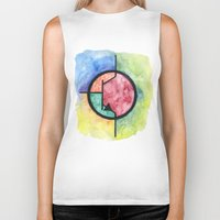 transistor Biker Tanks featuring Watercolor NPN BJT by EEShirts