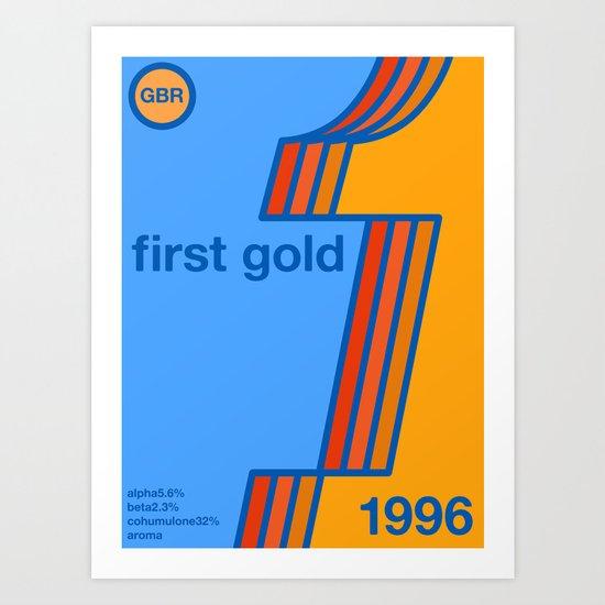 first gold single hop Art Print