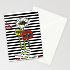 Sunshine flowers Stationery Cards