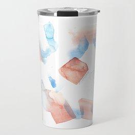180527 Abstract Watercolour 11 | Watercolor Brush Strokes Travel Mug