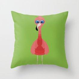 Snazzy Flamingo Throw Pillow