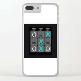 No.5 - Tic Tac Toe Clear iPhone Case