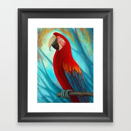 Technicolor Macaw Framed Art Print
