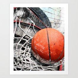 Modern Basketball Art 8 Art Print