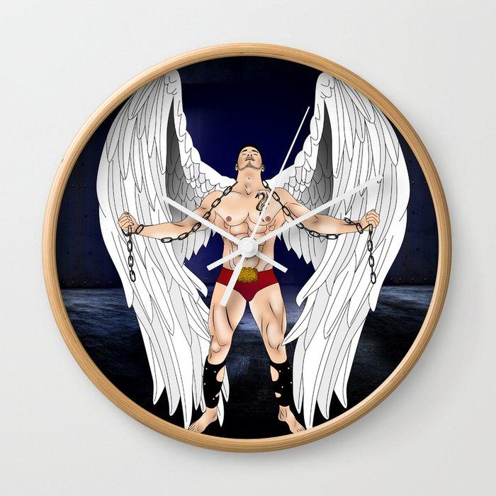 angel comics nude art vector Wall Clock