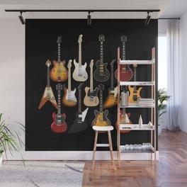 Too Many Guitars! Wall Mural