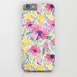Painterly Watercolor Floral Pink iPhone Case