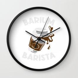 Coffee Barium Barista Coffee Mug Goft Wall Clock