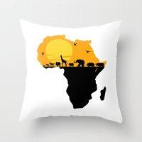south africa Throw Pillows featuring Africa by Emir Simsek