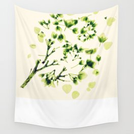 Green tickles - Botanical Print Wall Tapestry