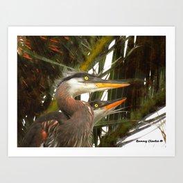 Punked Chicks Art Print