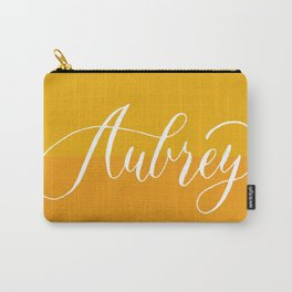 Aubrey - Modern Calligraphy Name Design Carry-All Pouch