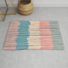 Colorful Grunge Stripes Rug