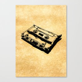 Retro Cassette Tape Canvas Print