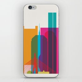 Shapes of Boston. Accurate to scale iPhone Skin