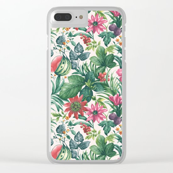 Garden pattern I Clear iPhone Case