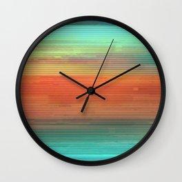 Trippy Serape Wall Clock