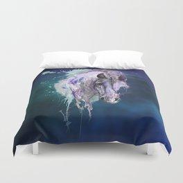 Purple Horse Duvet Cover