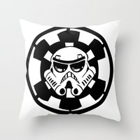 trooper Throw Pillows featuring Trooper by Ana Amorim