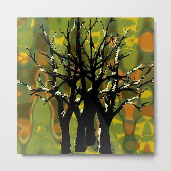 Tree Clusters Metal Print