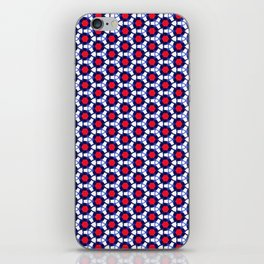 Red & Blue Pattern iPhone Skin