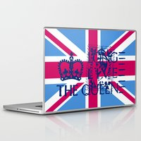 british flag Laptop & iPad Skins featuring British Flag in Pink by GraphicDivine