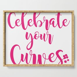 Celebrate Your Curves Serving Tray