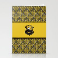 hufflepuff Stationery Cards featuring Hufflepuff House by Sarah and Bree