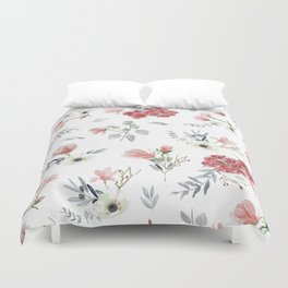 Autumn Floral Pattern Duvet Cover