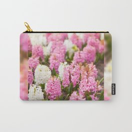 Hyacinthus pink white flowering Carry-All Pouch