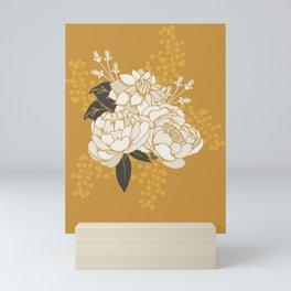 Glam Florals - Gold Mini Art Print
