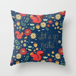 Let's go nuts! - Surface Pattern Design - ByBeck Throw Pillow