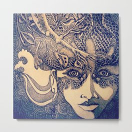 protect me ocean girl Metal Print