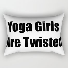 yoga girls are twisted Rectangular Pillow