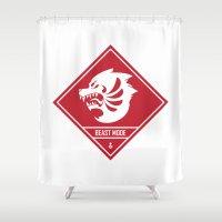 depeche mode Shower Curtains featuring Beast Mode by eugelng