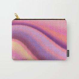 Glitchy modern pastel wavy rainbow stripes 2 - warm orange, pink, purple Carry-All Pouch