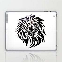 Lion face black and white Laptop & iPad Skin
