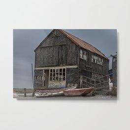 Seaside Wreck Metal Print