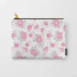Pink pastel florals cute nursery baby girl decor floral botanical bouquet blooms Carry-All Pouch