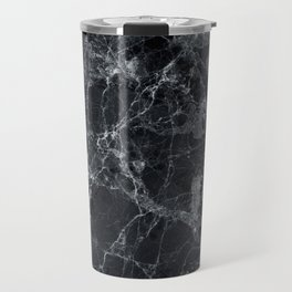Black marble texture Travel Mug