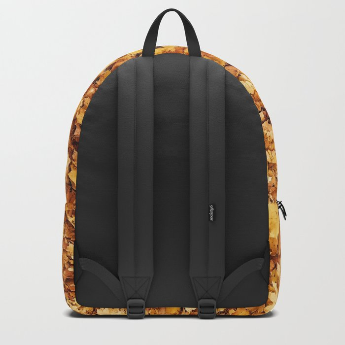 Gold yellow fall maple leaves Backpack