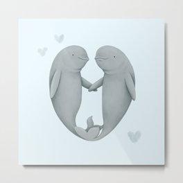 Beluga Love Metal Print