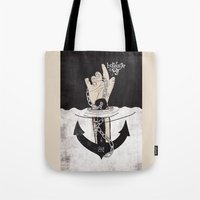 bondage Tote Bags featuring Bondage of self by kernmistress