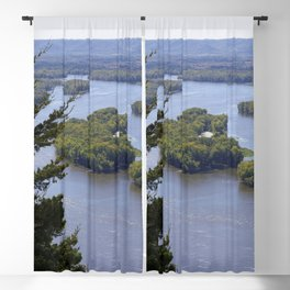 Upper Mississippi River, looking downriver from Buena Vista Park, Alma, WI Blackout Curtain