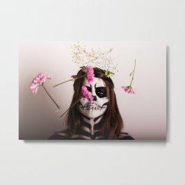skull portrait Metal Print