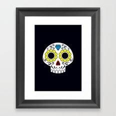 Sugar skull for a cake Framed Art Print