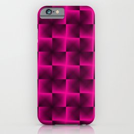 Rotated rhombuses of pink crosses with shiny intersections. iPhone Case