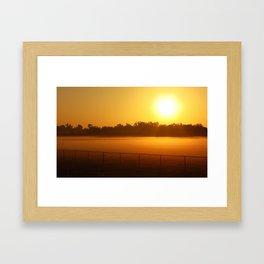 Sunrise on the Pasture Framed Art Print